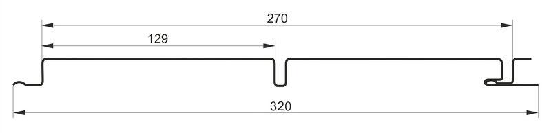 Сайдинг металлический размеры схема